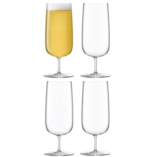 LSA International Borough Pilsner Glass 440ml Clear x 4