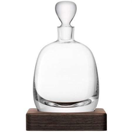 LSA International Islay Whisky Decanter & Walnut Base
