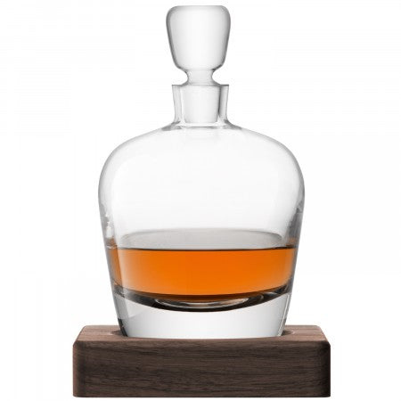 LSA International Arran Whisky Decanter and Walnut Base
