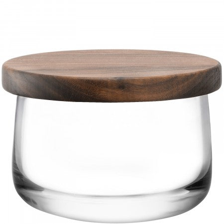 LSA International City Bowl & Walnut Lid - 13cm