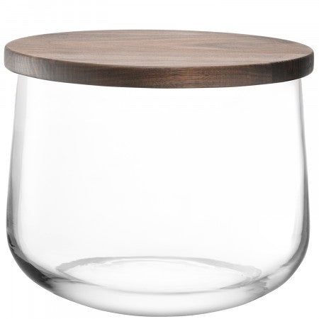 LSA International City Bowl & Walnut Lid - 22 cm