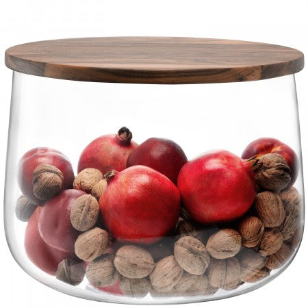 LSA International City Bowl & Walnut Lid - 32 cm
