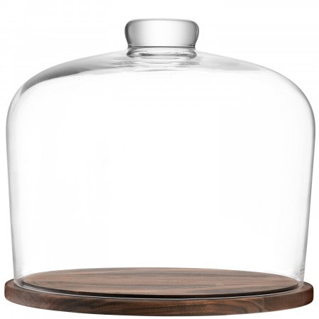 LSA International City Dome & Walnut Base - 32cm