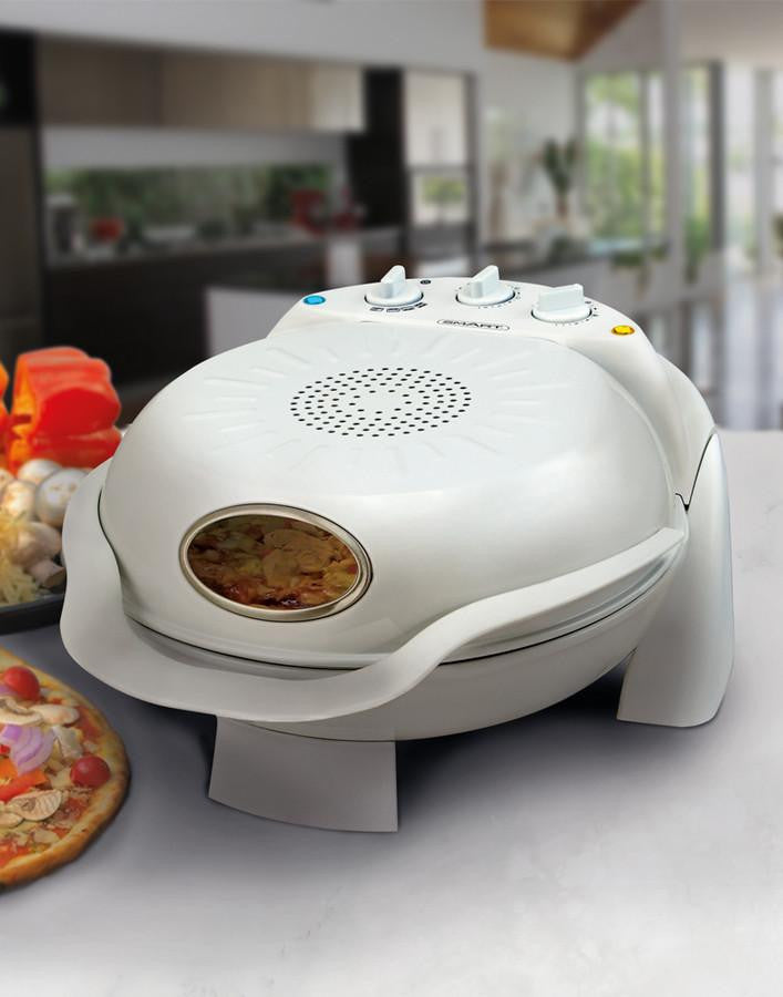 SMART Rotating Stone & Grill Pizza Oven (White)