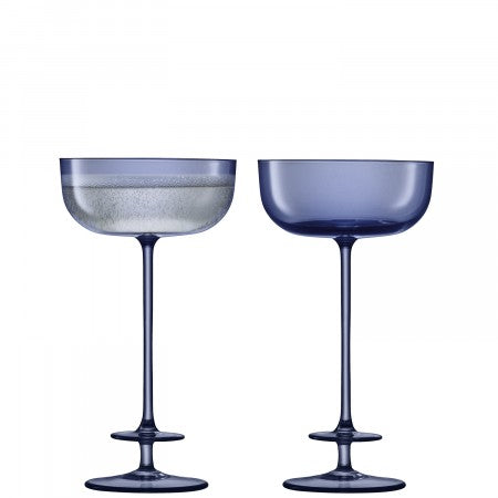 LSA International Champagne Theatre Saucer - Set of 2 210ml - Midnight Blue