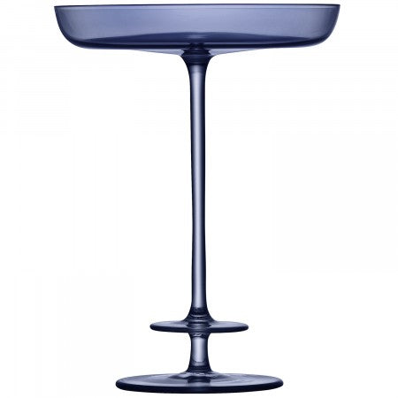 LSA International Champagne Theatre Pedestal Dish H15.5cm Tier/Midnight Blue