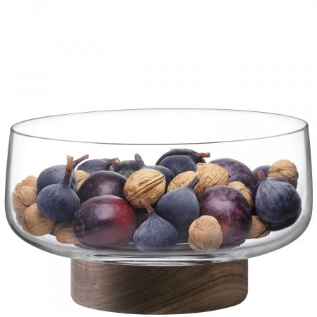 LSA International City Bowl & Walnut Base - 30cm
