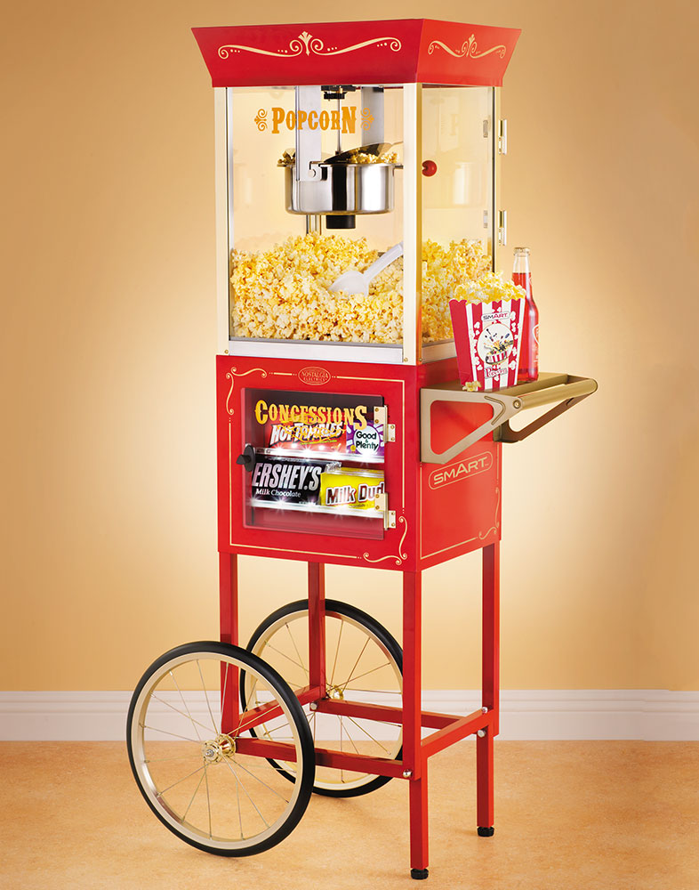 "SMART 59"" Old Fashioned Movie Time Popcorn Cart"