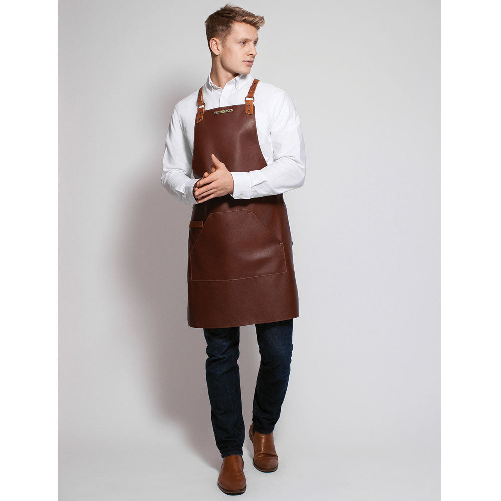 Stalwart Backstrap Deluxe Leather Apron (Brandy)