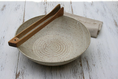 Rustic Speckled Serving Bowl.