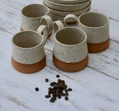 Set of 4 Rustic Mugs.