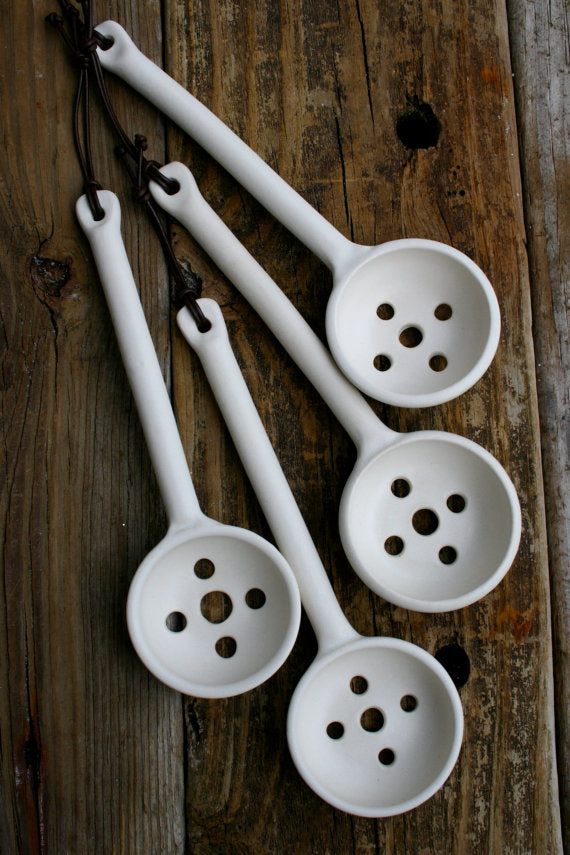 Porcelain Olive Spoon