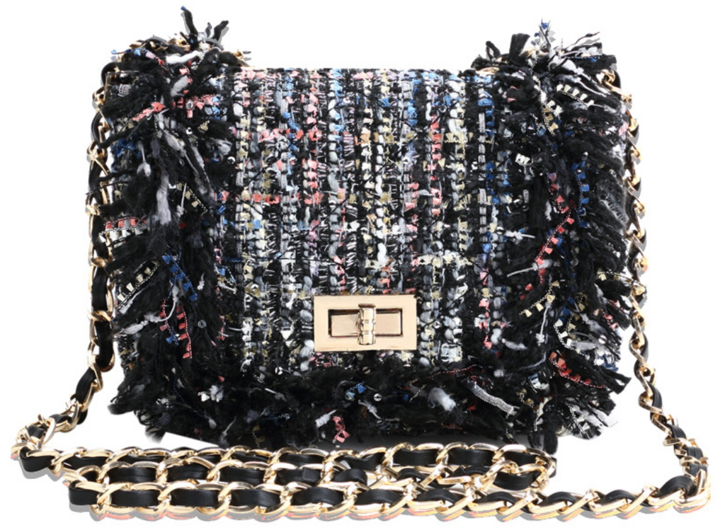 Woven Style Soft Yarn Texture Clutch Mini Handbag