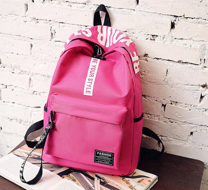 Girls Canvas Preppy Shoulder Bookbags School Travel Backpack Bag