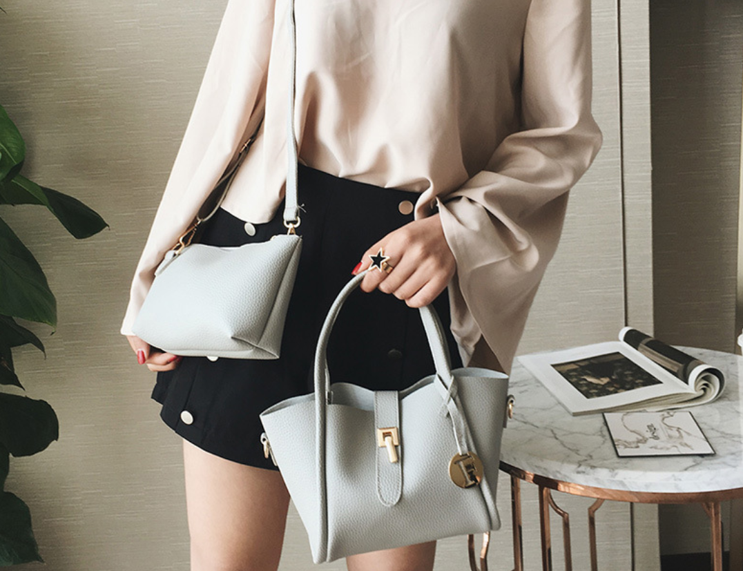 2PCs Lovely Small Tote Handbags Shoulder Bag