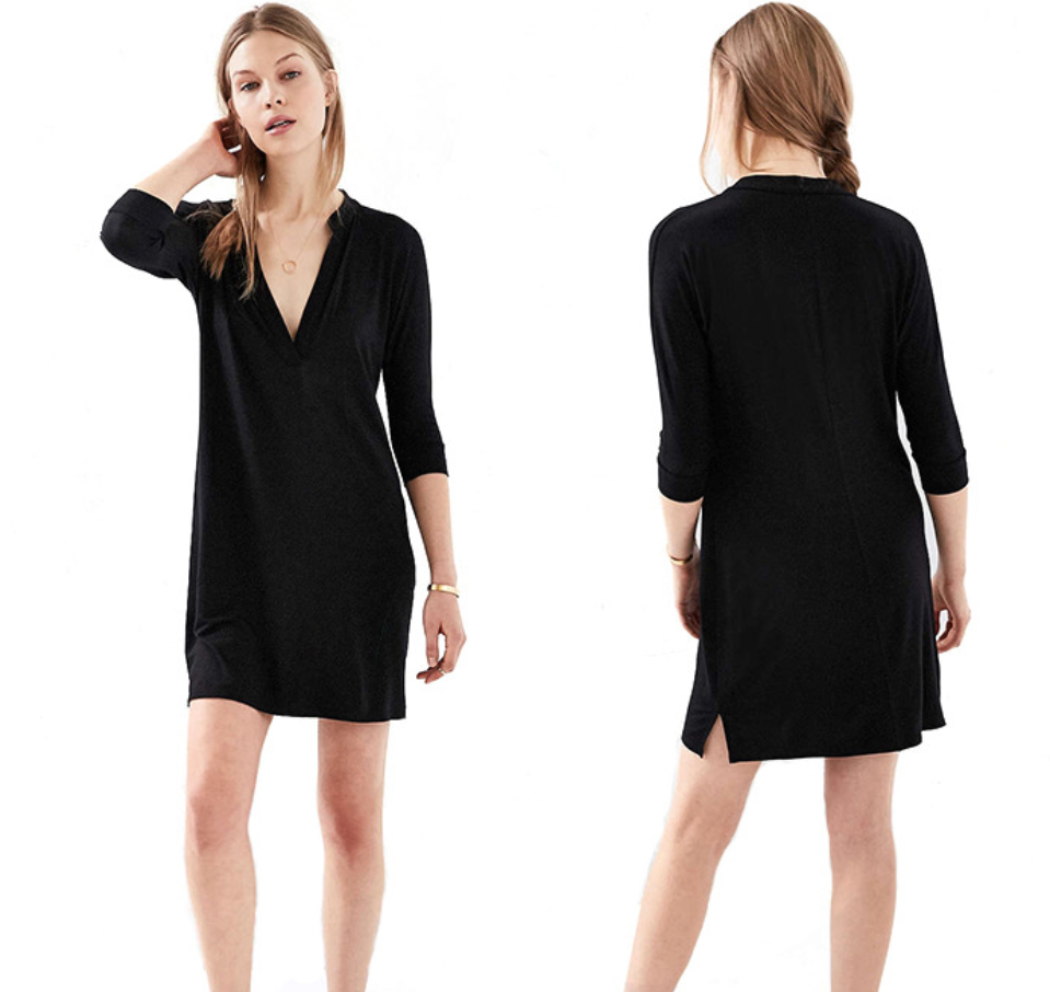 Black Simple Classic Dress
