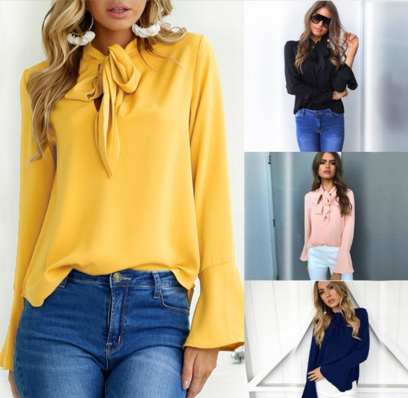 Flare Sleeve Tops