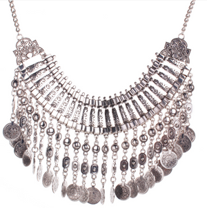 Retro Tassels Coin Style Necklace