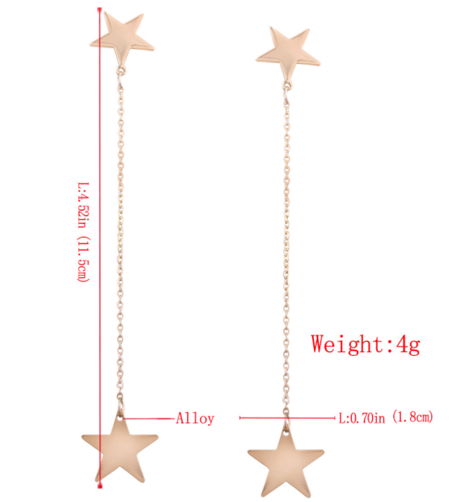 Long Tassels Special Star Earrings