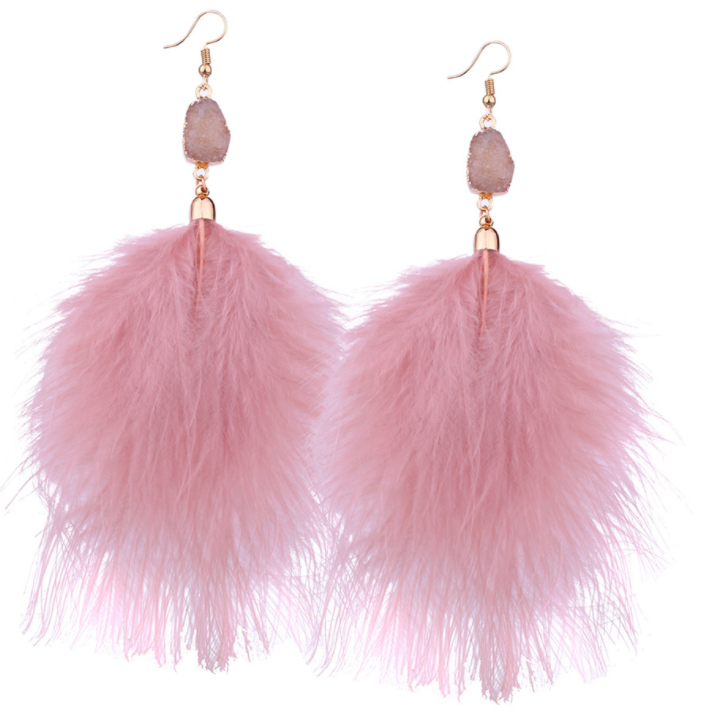 Feather Tassels Earrings
