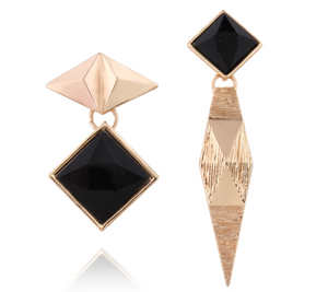 Irregularity Rhombus Earrings