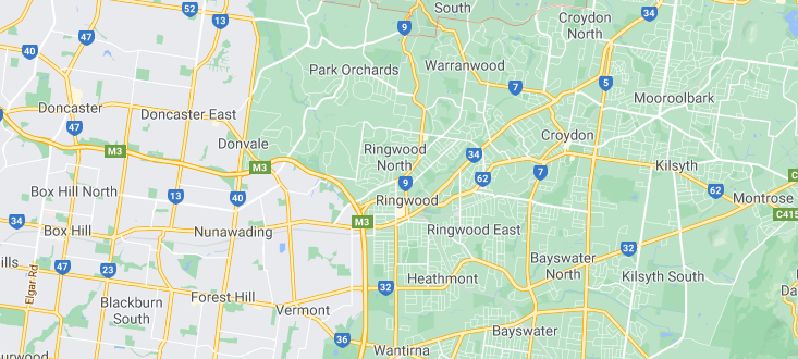 map of the eastern suburbs of melbourne