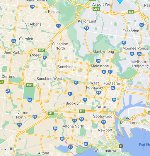 map of the western suburbs of melbourne