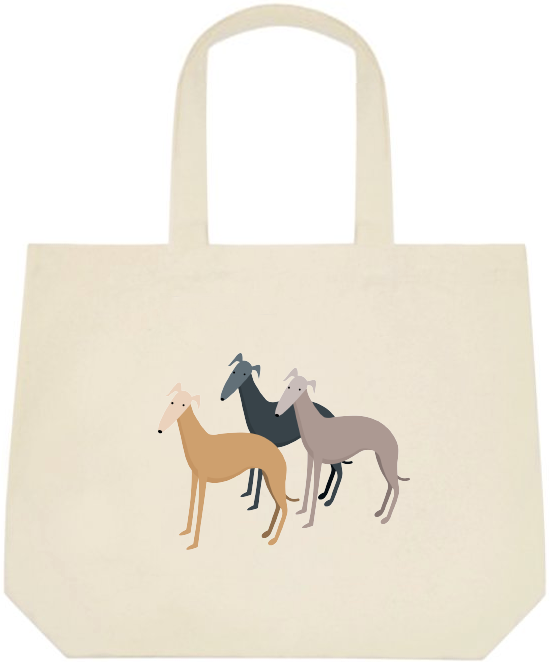 Tote Bags - Three Whippets