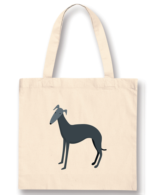 Tote Bags - Whippet Blue