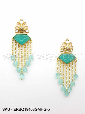 Mint Green Boutique Designer Earrings