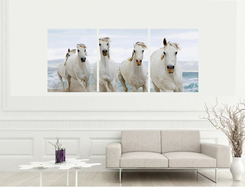 Beautiful Horses Set of 3 Canvas frames