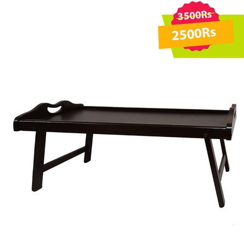 Bed Table Dark Brown