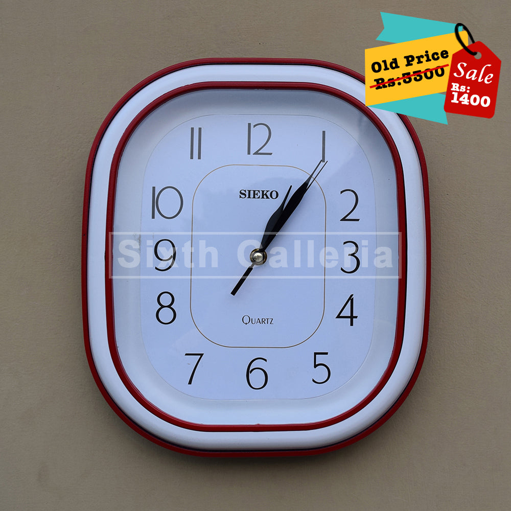 Taunsa Clock Red White
