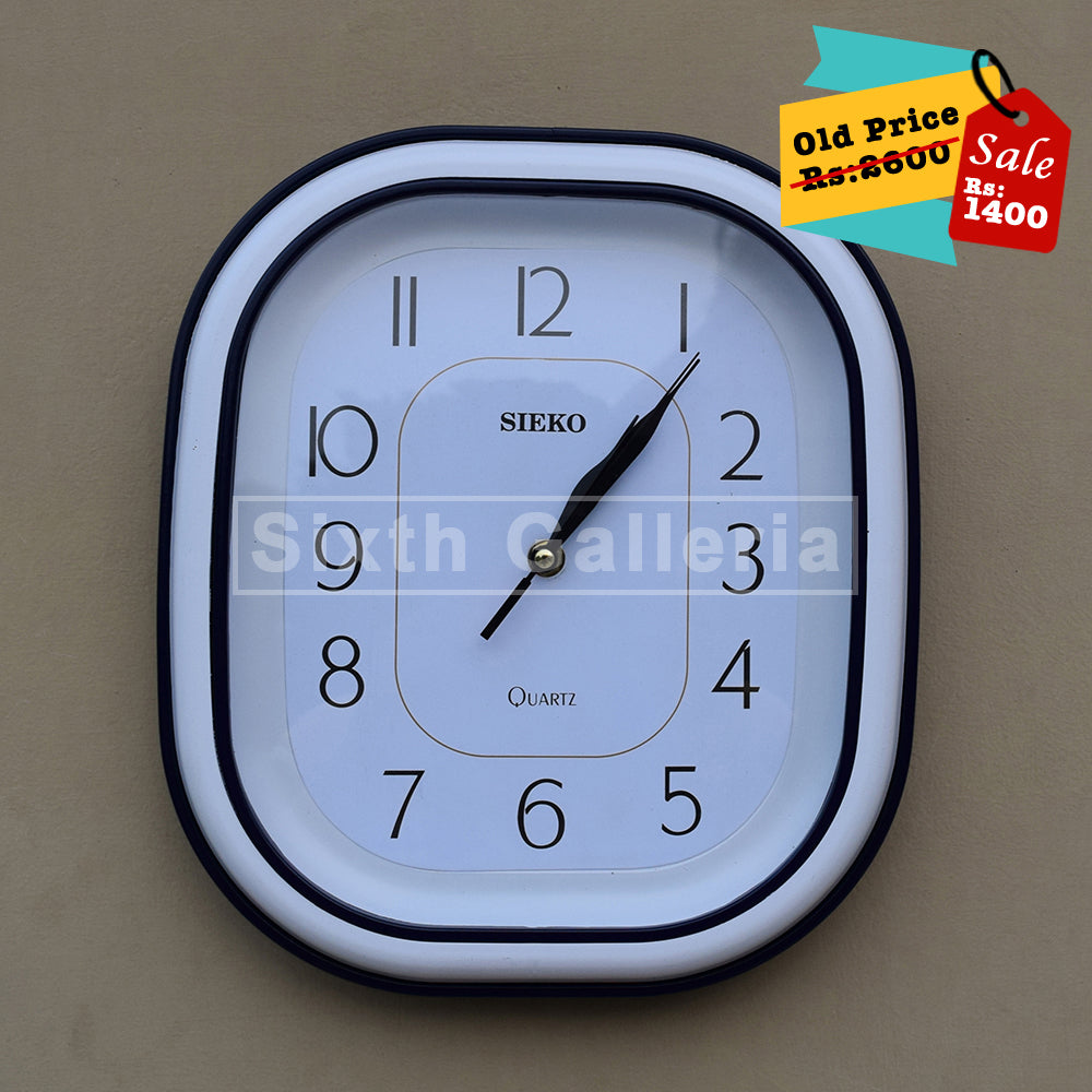 Taunsa Clock Blue white