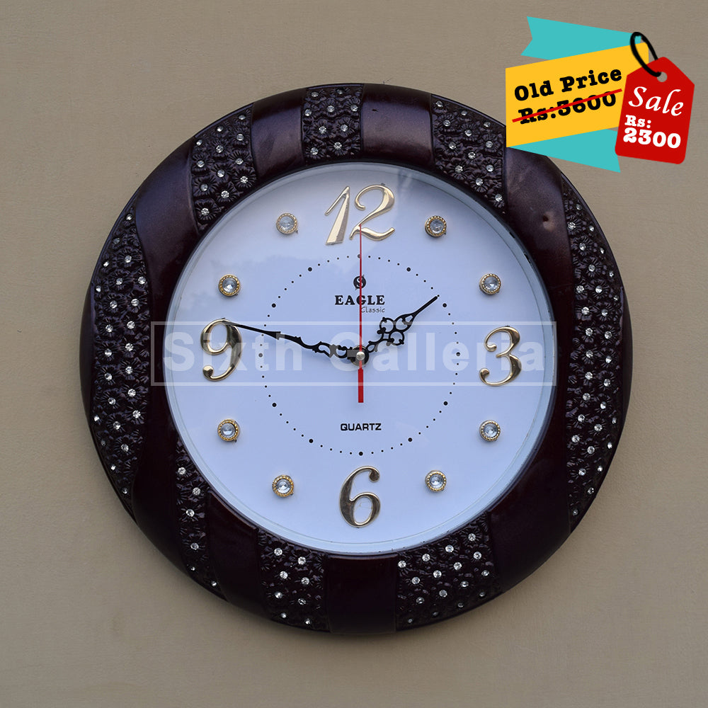 Barnie Clock Brown