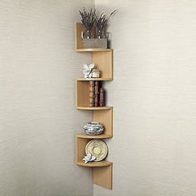 Large Corner Shelf Oak Brown