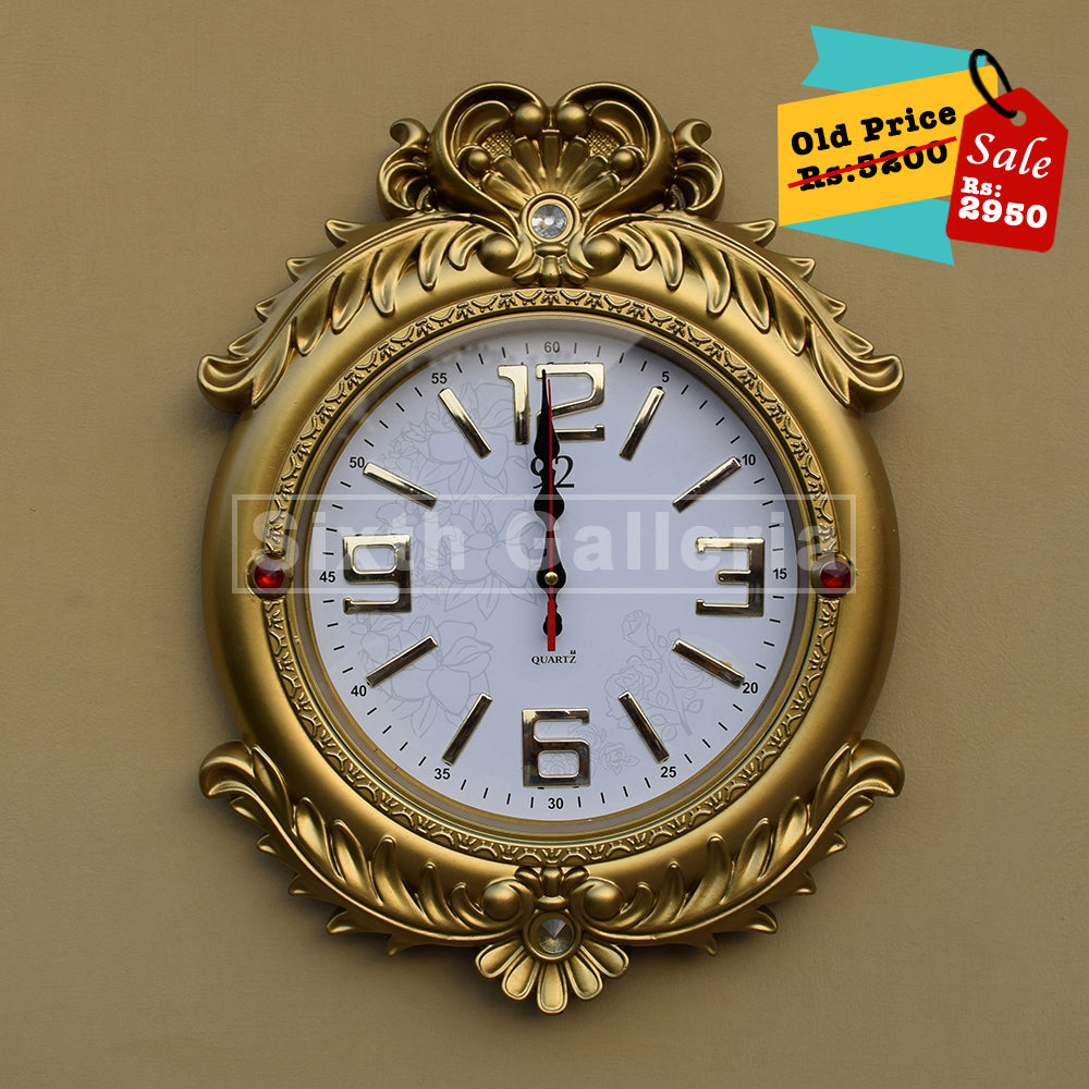 Retro Clock Golden