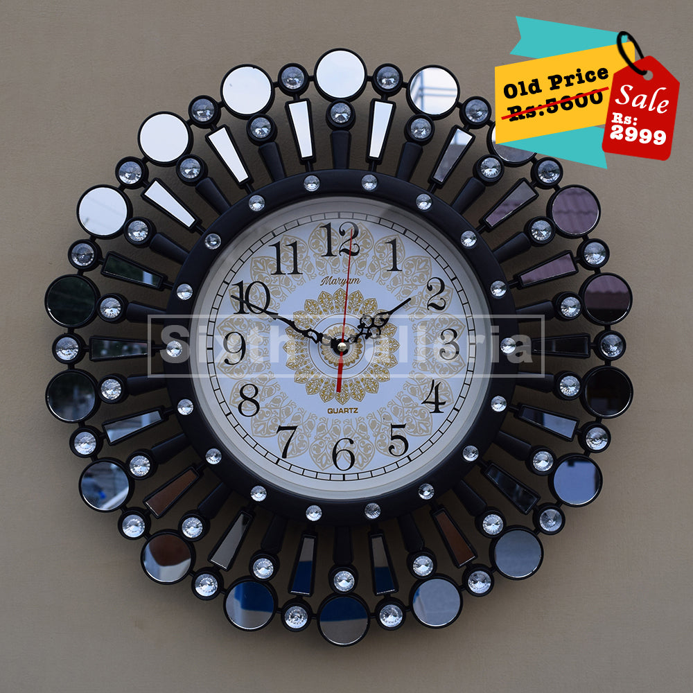 Fiona Clock Black