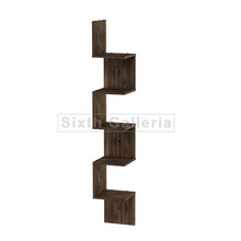 Large Corner Shelf Walnut Brown