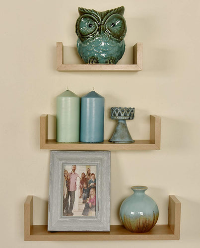 Alozay Shelf Set Oak Brown