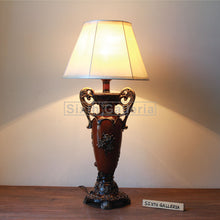 Pair of Dark Rosella Lamps