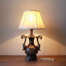 Pair of Floral Antique Lamps