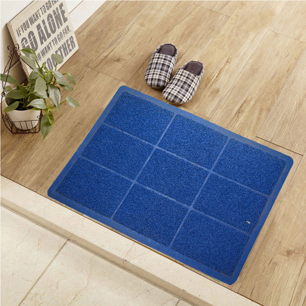Blue Boxes Door Mat
