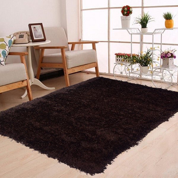 Shaggy Black Rug