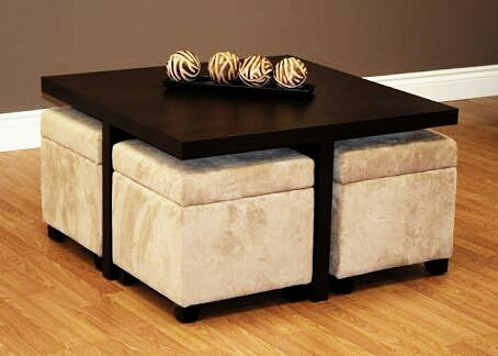 Almo Coffee Table with 4 Stool
