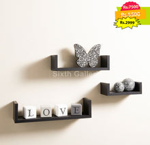 Alozay Shelf Set Black