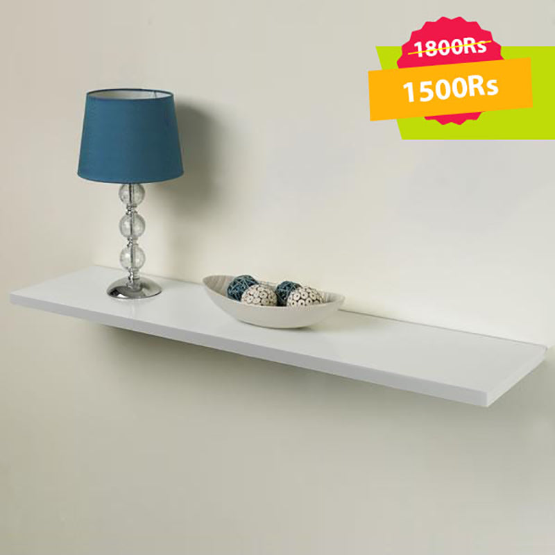 Single Floating Shelf White
