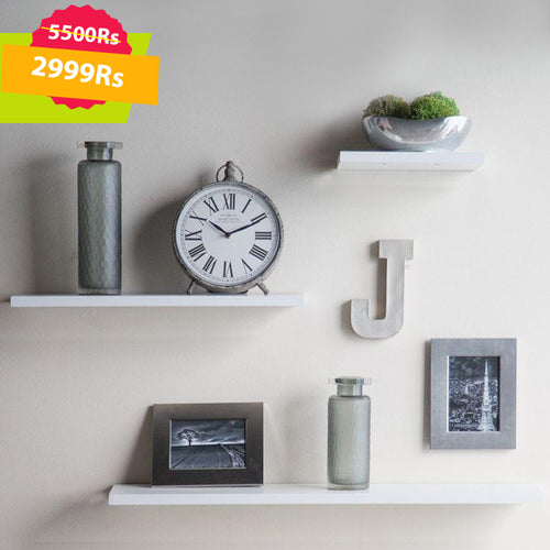 Chester Wall Shelves Set White