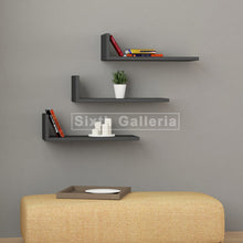 Fausa Shelves Black (Set of 3)