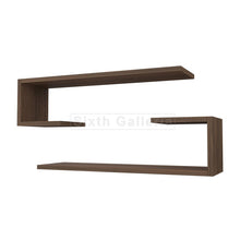 Fera Shelves Walnut Brown (Set of 2)